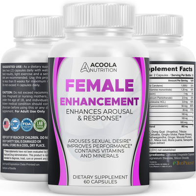 Female Enhancement Pills - libido support for women - 3 BOTTLES (180 CAPSULES) - $19.99 EACH by AN