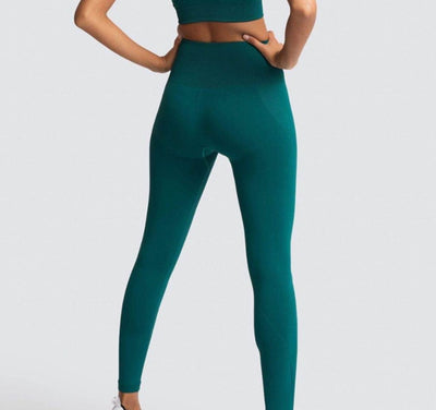 seamless hyperflex workout set sport leggings and top set yoga outfits for women sportswear athletic clothes gym sets 2 piece
