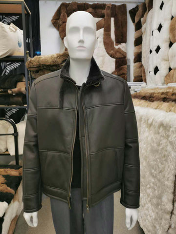 Knight of New Zealand Men's Leather Jacket-Mitch S3653-NBKI