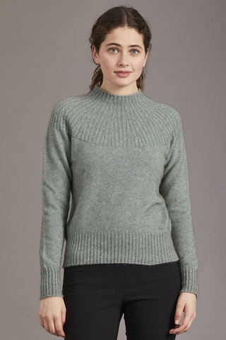 McDonald Women's Possum Merino Yoke Neck Cable Jersey 5017