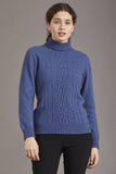 McDonald Women's Possum Merino Polo Neck Jersey With Lace Detail 6128