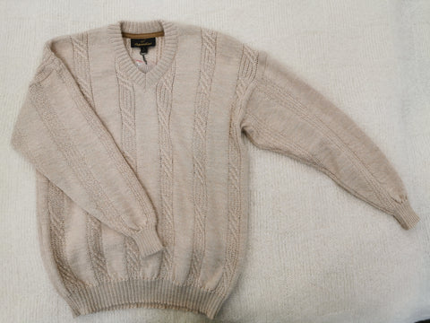 Knight of New Zealand Men's Alpaca Sweater-Quattro V-Neck KM1125