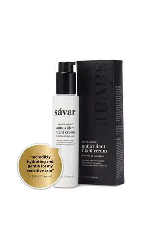 Savar Natural Antioxidant Night Cream For All Skin Types & Sensitive Skin 100ml 660003