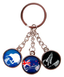 Derek NZ Icons Glass Dangle Keyring KR029