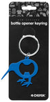 Derek Kiwi Metal Bottle Opener Keyring Blue KR101