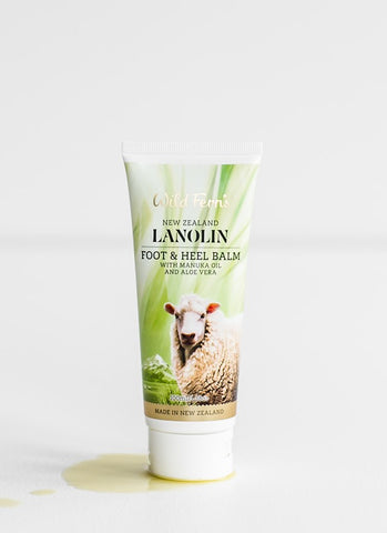Wild Ferns Lanolin Foot and Heel Balm with Manuka Oil and Aloe Vera 100ml LAFH