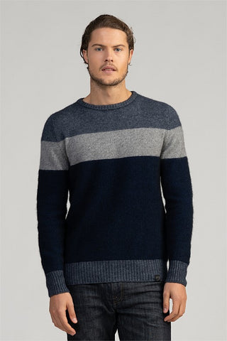Merinomink Men's Texture  Crew Sweater 1734