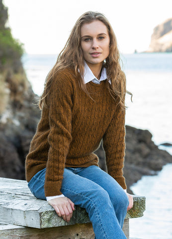 Noble Wilde Women's Cable Crew NW3184 Preorder