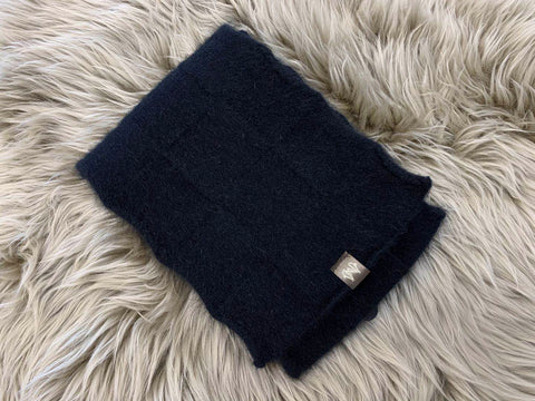 Noble Wilde Basket Stitch Scarf Black NW5063