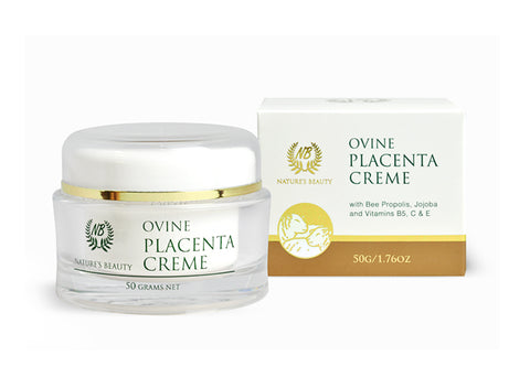 Nature's Beauty Ovine Placenta Creme With Bee Propolis, Jojoba & Vitamins B5, C & E 50g OP61