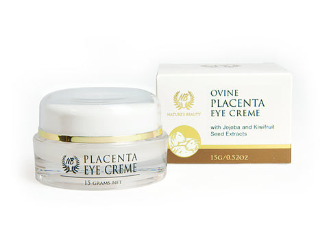 Nature's Beauty Ovine Placenta Eye Creme With Jojoba & Kiwifruit Seed Extracts 15g OP63