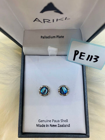 Ariki Round Stud Earrings PE113