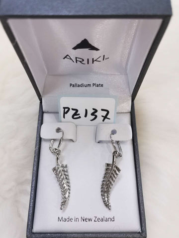 Ariki Silver Fern Earrings PE137