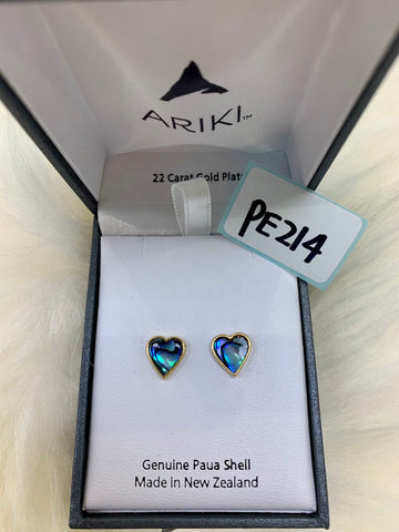 Ariki Heart Stud Earrings PE214