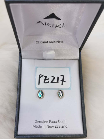 Ariki Small Oval Stud Earrings PE217