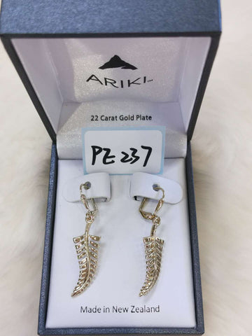 Ariki Silver Fern Earrings PE237