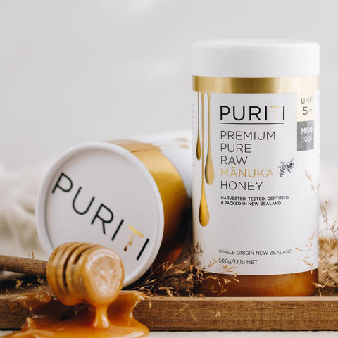 Puriti Premium Pure Raw Manuka Honey UMF5+/MGO100+ 500g FTP5+500