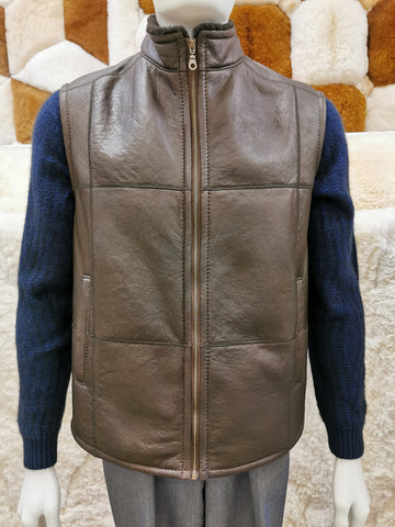 Knight of New Zealand Men's Leather Vest-Gus S3682-VNBKI