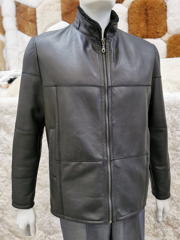 Knight of New Zealand Men's Leather Jacket-Kirk S3685-SLIN