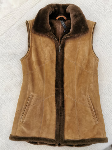 Knight of New Zealand Women's Leather Vest-Bena S44489-VSLIS