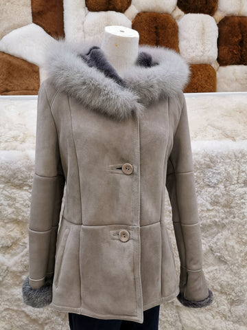 Knight of New Zealand Women's Leather Jacket-Trista (Fox Fur) S44512F-TOSC