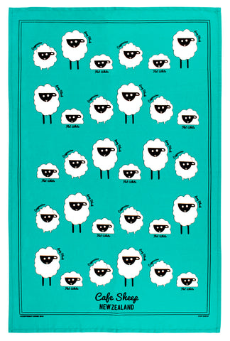 Derek Cafe Sheep Tea Towel TT990_ONE_STD