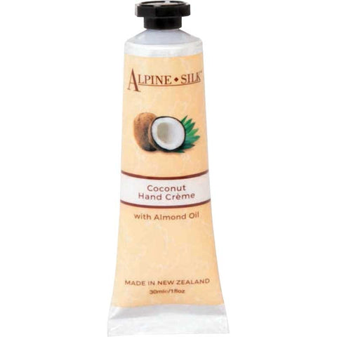 Alpine Silk Botanicals Coconut Hand Creme with Almond Oil 30ml AS206