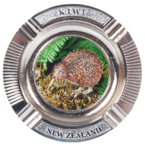 Hallifax Mini Metal Ashtray Foil Kiwi MISC63