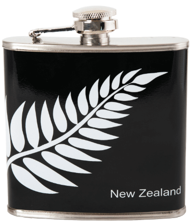 Hallifax Stainless Steel Hip Flask 6oz NZ Fern MISC91