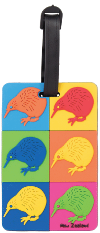 Hallifax Luggage Tag Pop Art Kiwi LL16