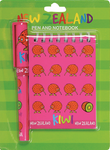 Hallifax Stationery Notebook & Pen Set Kiwi Pink/Green SP64
