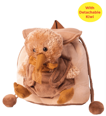 Hallifax Toy Bag Backpack Detachable Kiwi TBP30