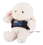 Hallifax Toy Finger Puppet Sheep with Flag T-Shirt TFP16