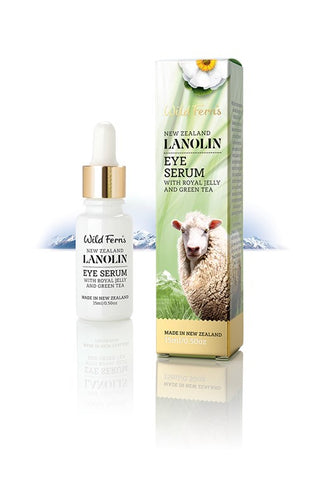 Wild Ferns Lanolin Eye Serum with Royal Jelly and Green Tea 15ml LAES
