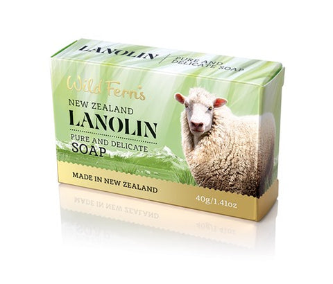 Wild Ferns Lanolin Pure and Delicate Guest Soap 40g LAGS