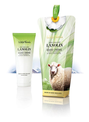 Wild Ferns Lanolin Hand Creme with Calendula and Sweet Orange Oil 100ml LAHC
