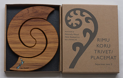 Naturally Wood Trivets & Placemats - New Zealand Paua PS-NZP