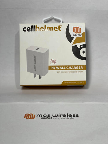 SINGLE WALL CHARGER 20W TYPE-C TO TYPE-C