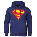 2019 Autumn Winter Men's Hoodies Superman Sweatshirts Quality Streetwear Male Pullovers Hot sale Cotton Tops Casual Man Clothing