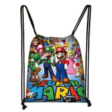 Mario Sonic Boom Hedgehogs 3D Drawstring Bag Printing Backpack Daily Casual Boys Girls knapsack Drawstring Bags