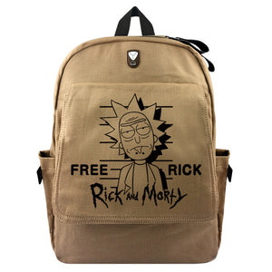Rick Canvas Backpacks Morty Rucksacks Cartoon School Backpack Casual student Bags travel Knapsack Unisex Gifts New