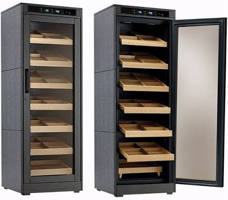 Electronically Controlled Cigar Cabinets