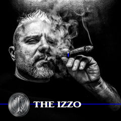 Dominick Izzo of Rantz of Izzo smoking an Izzo Toro Maduro Promotional Cigar