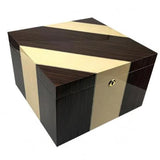 THE VICEROY 110 Ct. Lacquer Two-Tone Maple & Iron Wood Humidor w/ Magnetic Dividers