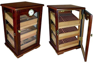 THE MILANO 125 Count Cigar Countertop Display Humidor w/ Trays
