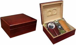 THE DIPLOMAT 25-50 Count Cherry Humidor Gift Set