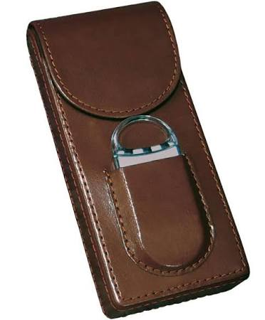 3 Cigar Leather Case w/ Magnetic Closure & Cutter