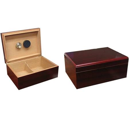 THE EXECUTIVE 50-75 Count Cherry Cigar Humidor