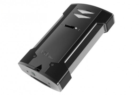 THE V6 6 Torch Tabletop Lighter w Built-in Guillotine Cigar Cutter