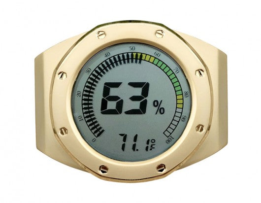 Watch Face Bezel Digital Hygrometer / Multi Color Gauge